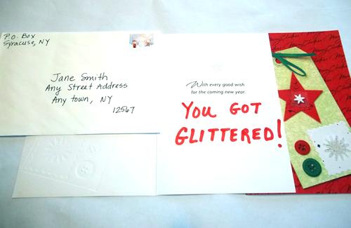 Holiday Card Glitter Bomb Prank - 87.3KB
