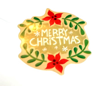 Christmas Card Glitter Bomb Sticker