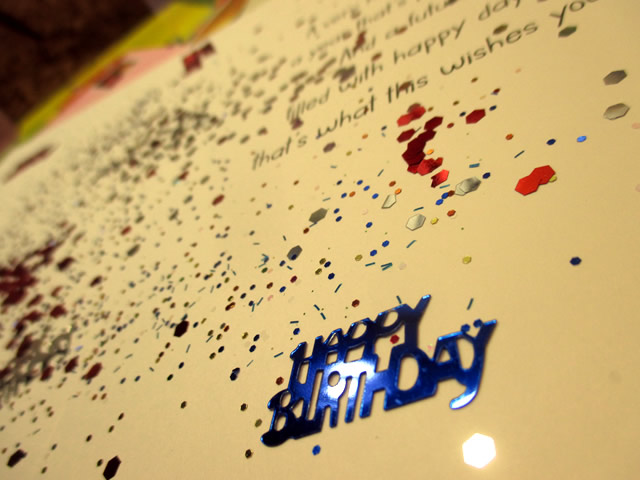 Birthday Card Glitter Bomb Send Glitter Funky Delivery