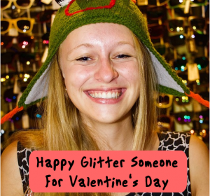 Seand a Valentine's Day happy glitter card