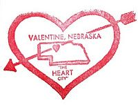 Valentine Postmark from Valentine, Nebraska