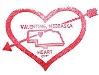 Valentine Postmark from Valentine, Nebraska