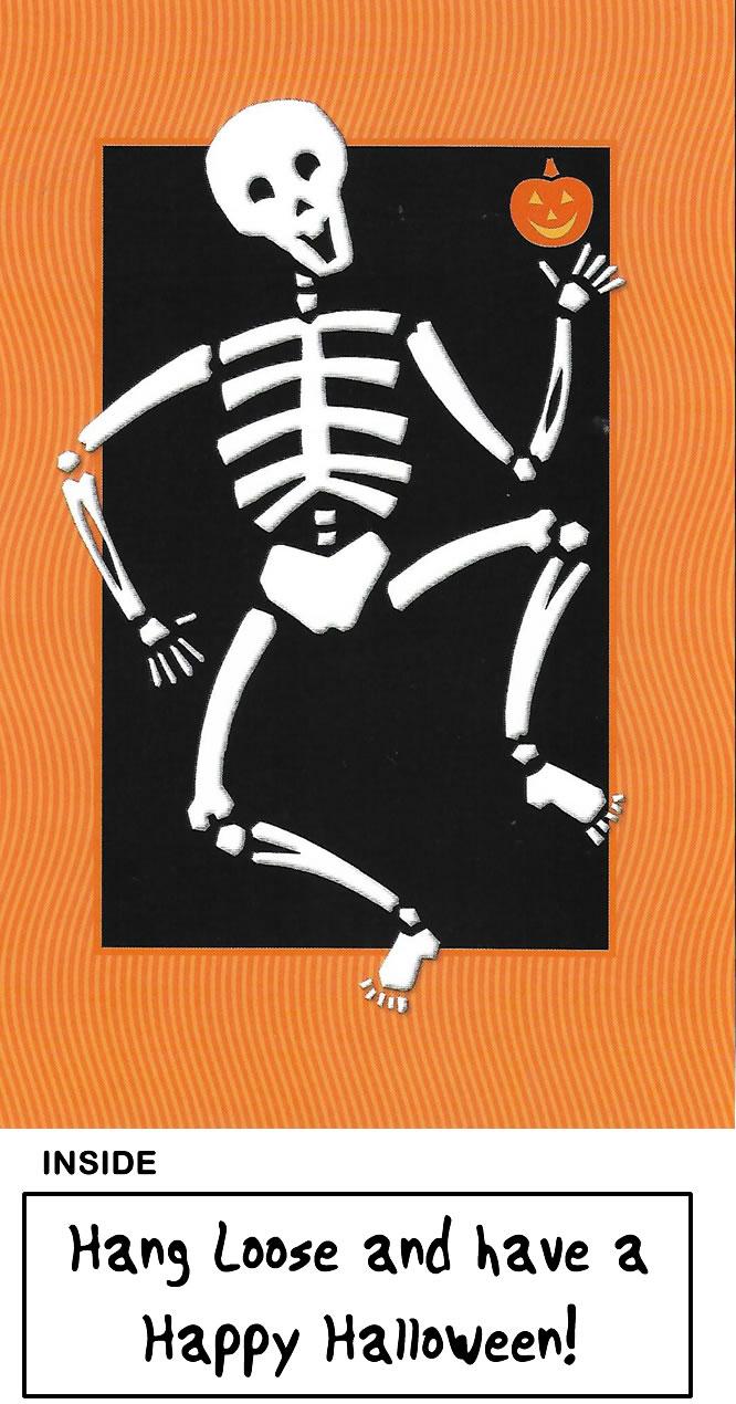 dancing skeleton halloween card | fun halloween cards