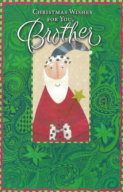 christmas wishes for you brother custom christmas card funky