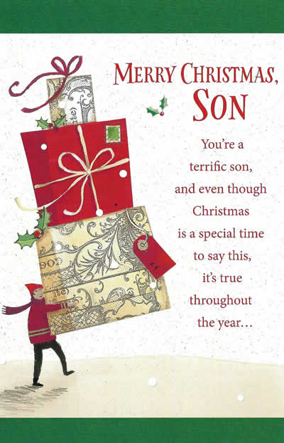 merry christmas son youre a terrific son christmas card - Images Merry Christmas
